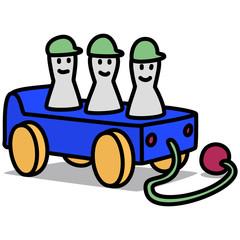 Cartoon Car 97 : Pull Toy