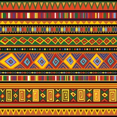 Ethnic Colorful Pattern Africa Art-Etnico Colori Arte Africa