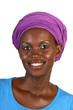 Hübsche Afrikanerin mit Kopftuch