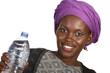 Hübsche Afrikanerin mit Wasserflasche