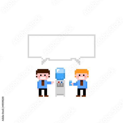 Set of pixel icon. Theme office