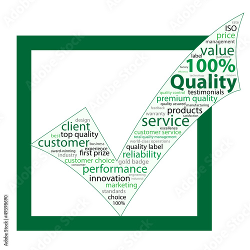 """100% QUALITY"" Tag Cloud (guarantee service satisfaction)"