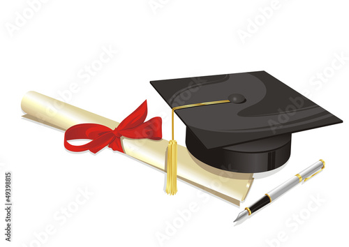 university degree college greeting card