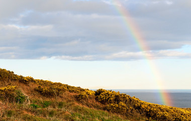 rainbow on irish coast
