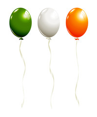 Balloons in irish colors