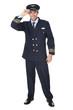 Leinwanddruck Bild - Portrait of confident pilot