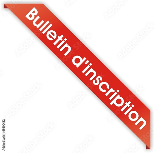 étiquette bulletin d'inscription