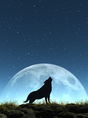 Heulender Wolf