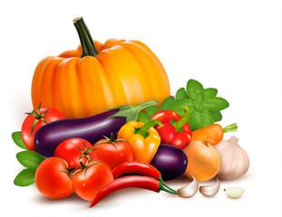 Fresh vegetables. Healthy Food. Vector illustration