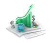 Business analythics. Charts and signs.