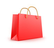 Red classic shopping bag.