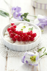 Red currant dessert