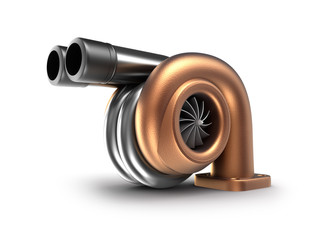 Turbocharger. Auto turbine concept.