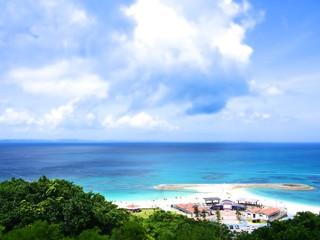 沖縄ビーチ ジオラマ風
