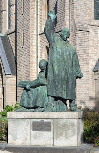 Monument to brothers Olaus and Laurentius Petri in Orebro