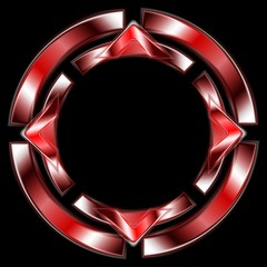 Abstract vector red shape