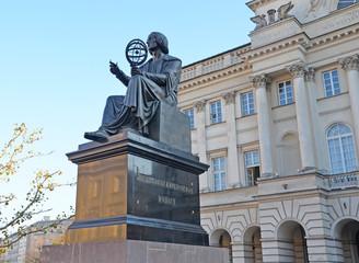 Statue of Copernicus - Warsaw Poland