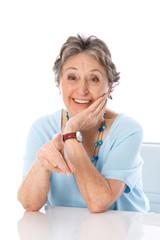 Humorvolle ältere Dame