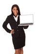 Businesswoman Presenting Laptop