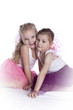 studio photo of little girls