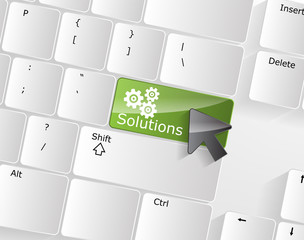 Computer Keyboard with solutions Key