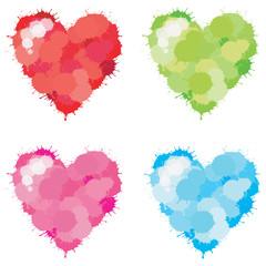 Color Splatter Heart set
