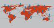 Netzwerke, global, Kommuniktion, Verbindung