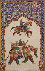 Wandmalerei Mandawa