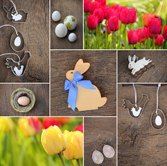 Ostern, Frühling Hintergrund - Collage