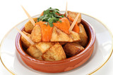 patatas bravas, spanish fried potatoes