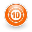 target orange circle glossy web icon on white background