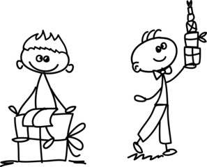 Набор из каракуля детей