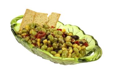 Edamame Soy Bean Salad Crackers