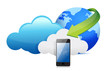 phone cloud computing moving concept