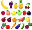 Постер, плакат: Мультфильм фрукты и овощи