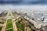 Great aerial view of Eiffel Tower surroundings - Paris