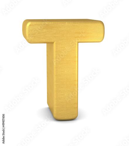 buchstabe letter T gold vertikal