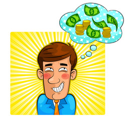 person thinking about money