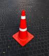 Rubber cone.
