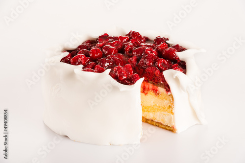 Icing raspberry cake sugar dessert red berries