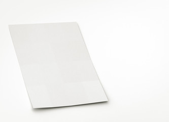 blank paper or brochure sheet