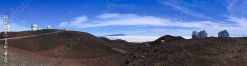 Panorama of observatories on Mauna Kea