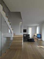 scala nel soggiorno moderno