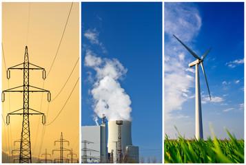 Energieerzeugung Collage