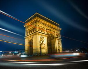 Arc de Triomphe by night, Paris, France