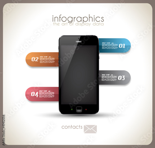 Infographics Desgin template with phone
