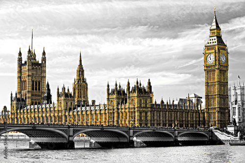 The Big Ben, and the House of Parliament, London, UK. - 49412075