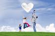 Happy family Valentine's day