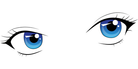 Manga Augen Ausdruck