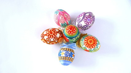 Easter eggs rotating, Seamless looping.